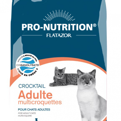 Croquettes chat Pro-Nutrition Crocktail Adulte Multicroquettes 3KG