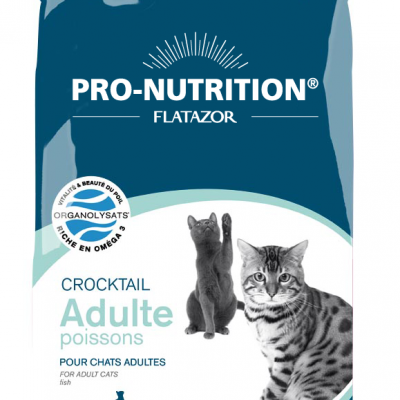 Croquettes chat Pro-Nutrition Crocktail Adulte Poissons 3KG