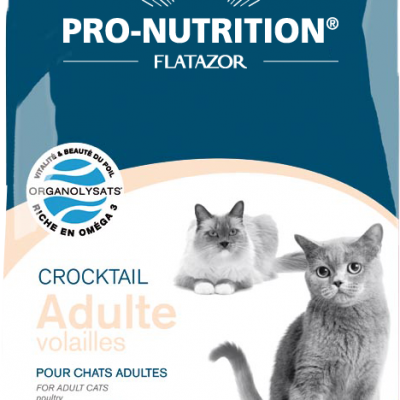 Croquettes chat Pro-Nutrition Crocktail Adulte Volailles 3KG