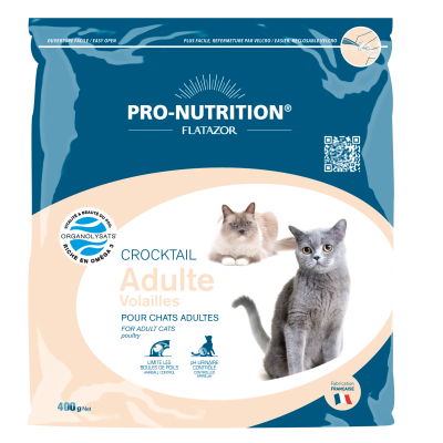 Croquettes chat Pro-Nutrition Crocktail Adulte Volailles 400g