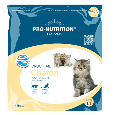 Croquettes pour chat Pro-Nutrition Crocktail Chaton 400g